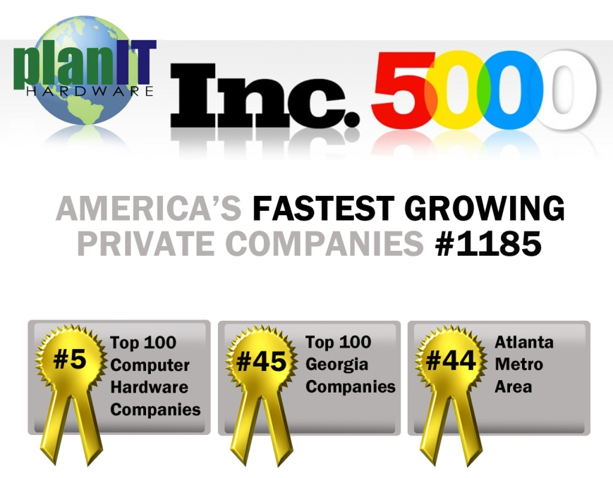 planit hardware, used IT hardware, refurbished, nob, nib, eol, end of life, inc 5000, inc 500, inc magazine, inc, fastest growing, top private companies, top computer hardware companies, top atlanta companies, top georgia companies