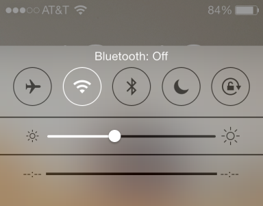 bluetooth, ios7 control center, bluetooth off, planit hardware, used cisco reseller, mobile security, best practices