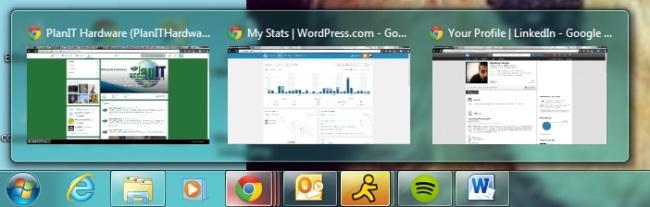 windows 7, taskbar, live thumbnail preview, XP